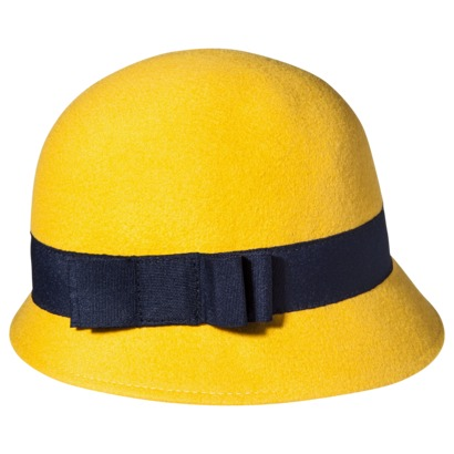 yellow cloche hat