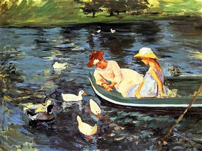 Summertime, 1894  by Mary Cassatt