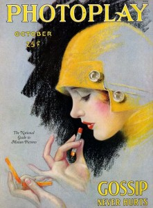 Photoplay-cover-flapper-applying-lipstick-1920s-221x300